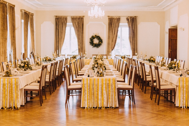 dekoracja sali weselnej jesień